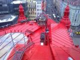 Oprava a nátěr střechy na Náměstí republiky